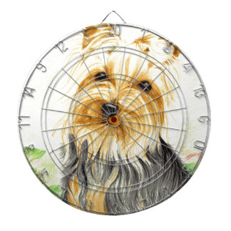 Mitzy a miniature Yorshire Terrier Dartboard