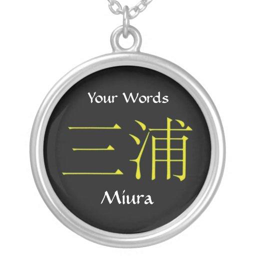 Miura Monogram Pendants
