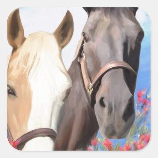 Miwok Horses.jpg Square Sticker