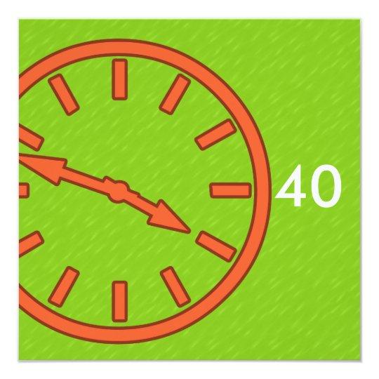 Mix and Match Collection Analogue Clock Face Dial Card
