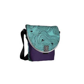 Mix and Match Color Ant Hill Abstract Commuter Bags