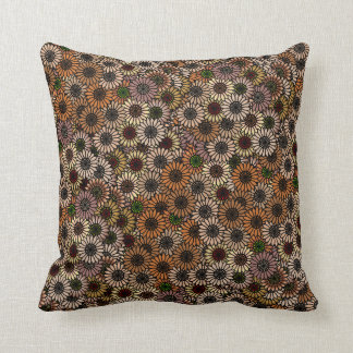 Mix and Match Earth Tone Flowers Cushion