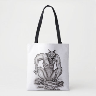 Mix-Creature - Troll, Golem and Devil Tote Bag