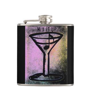 """""""Mix it Up"""" Martini Music Mix Flask"""