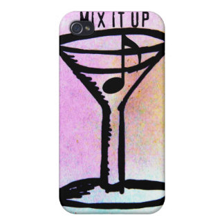 MIX IT UP MARTINI MUSIC NOTE PRINT COVER FOR iPhone 4