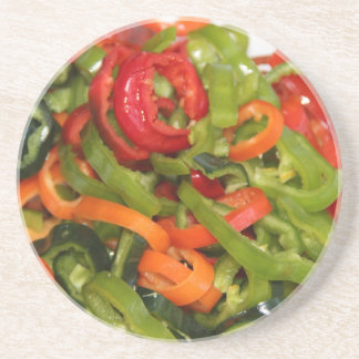 Mix, Match and Cut Up Peppers Coaster