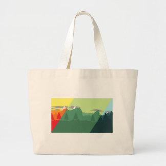 Mix Mountains Large Tote Bag