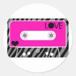Mix Tape Love Classic Round Sticker