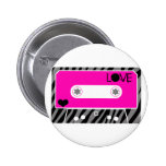 Mix Tape Love Pinback Buttons