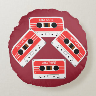 Mix Tape Round Pillow