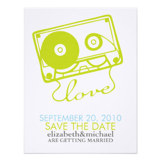 Mix tape of Love Save the Date Announcements