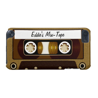 Mix Tape Personalized Gold iPod Touch (5th Generation) Covers