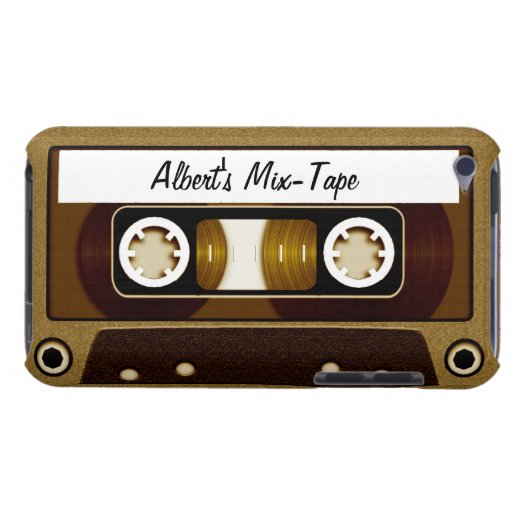 Mix Tape Personalized Gold Barely There iPod Covers