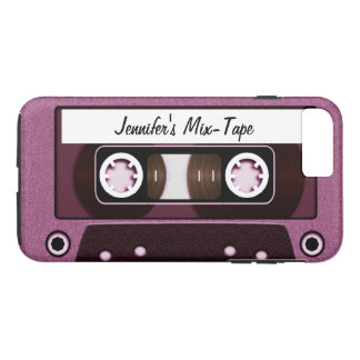 Mix Tape Personalized Pink iPhone 8 Plus/7 Plus Case