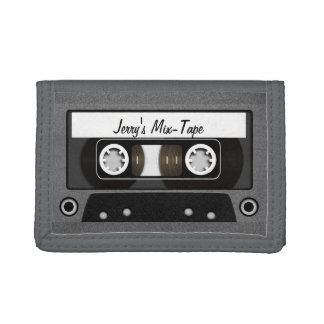 Mix Tape Personalized Tri-fold Wallets