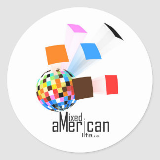 Mixed American Life Round Sticker