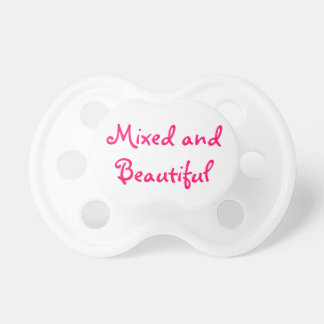 Mixed and Beautiful Dummy/Pacifier Baby Pacifiers