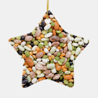 Mixed beans christmas ornament