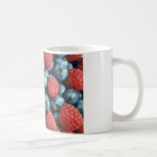 Mixed berries (blueberries and raspberries) design coffee mug