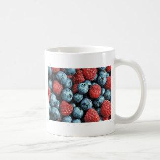 Mixed berries (blueberries and raspberries) design basic white mug