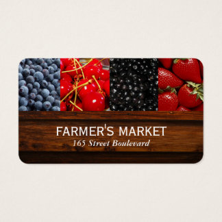 Mixed Berries / Farmers Market Business Card