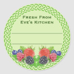 Mixed Berries with Celtic Round Canning Round Sticker