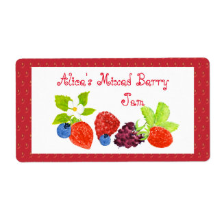 Mixed Berry Preserves Canning Label