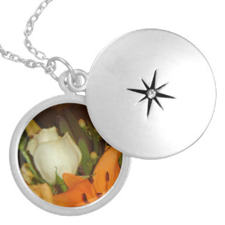 Mixed Bouquet Silver Plated Necklace