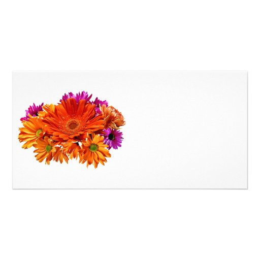 Mixed Bouquet With Gerbera Daisy and Mums Photo Greeting Card