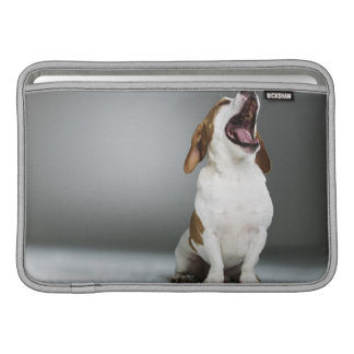 Mixed breed dog yawning sleeve for MacBook air