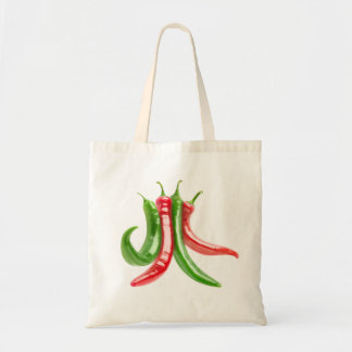 Mixed chili peppers tote bag