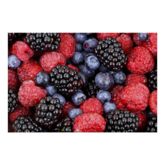 Mixed Colourful Berries Poster