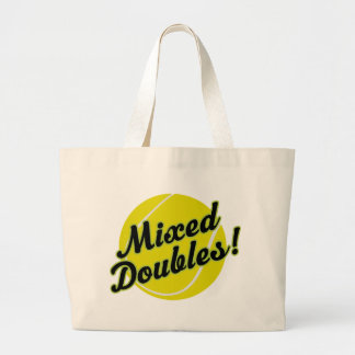 Mixed Doubles Large Tote Bag