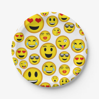 Mixed Emoji pattern party plate