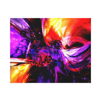 Mixed Feelings Abstract Canvas Print