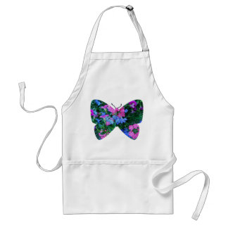 Mixed Flowers Butterfly Apron