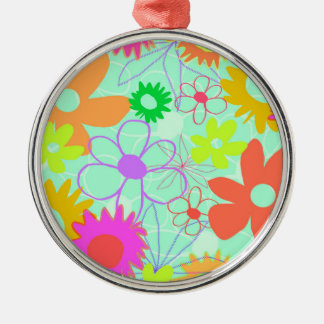 Mixed Flowers Christmas Ornament