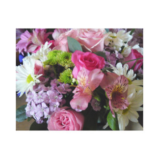 Mixed Flowers Gallery Wrapped Canvas