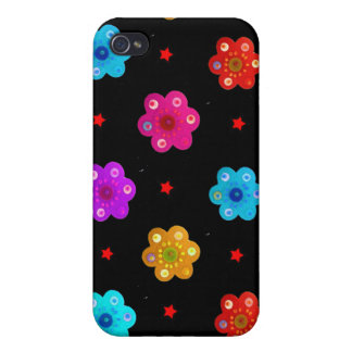 Mixed Flowers Hard Shell Case for iPhone 4/4S