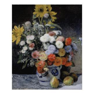 Mixed Flowers in an Earthenware Pot by Renoir Art Photo