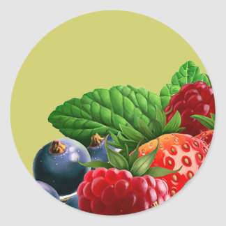Mixed Fruit Classic Round Sticker