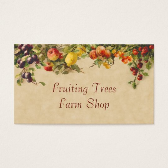 Mixed fruit farm sales business card