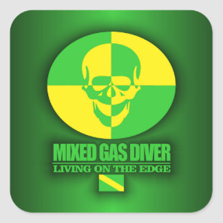 Mixed Gas Diver Square Sticker