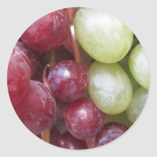 Mixed Grapes Classic Round Sticker