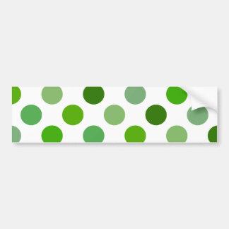 Mixed Greens Polka Dots Bumper Sticker
