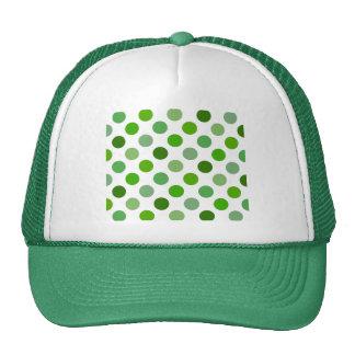 Mixed Greens Polka Dots Cap