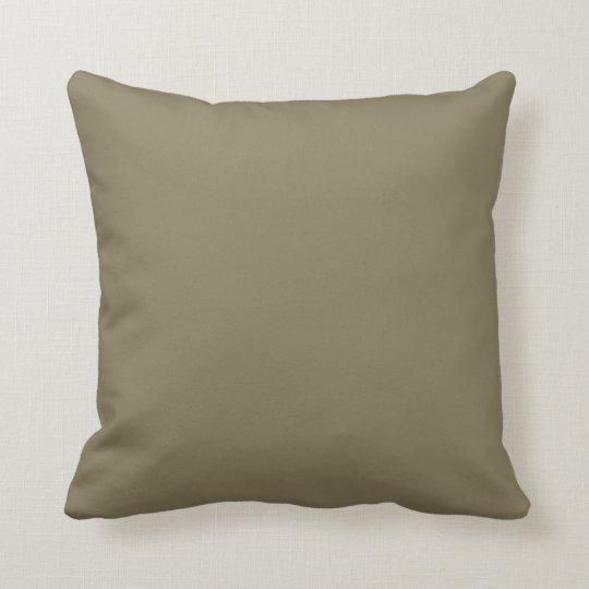 Mixed Herb (Green/Brown) Colour Throw Pillow