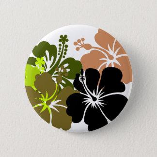 Mixed Hibiscus 6 Cm Round Badge