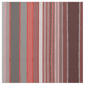 Mixed Maroon and Grey Stripe Fabric