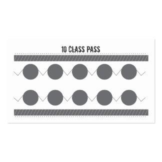 Mixed Martial Art Business Card 10 Class Pass Card